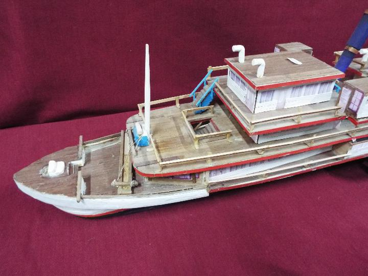 A wooden model of a Russian Paddle Steamer 'St.Petersburg'. - Image 2 of 5