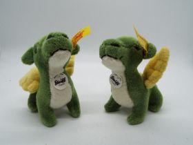 Steiff - Two Steiff Mini Bears comprising 2 x # 112126 'Dragon', yellow tag,