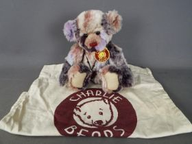 Charlie Bears - A Charlie Bears soft toy teddy bear # CB604748C 'Ragsy', designed by Isabelle Lee,