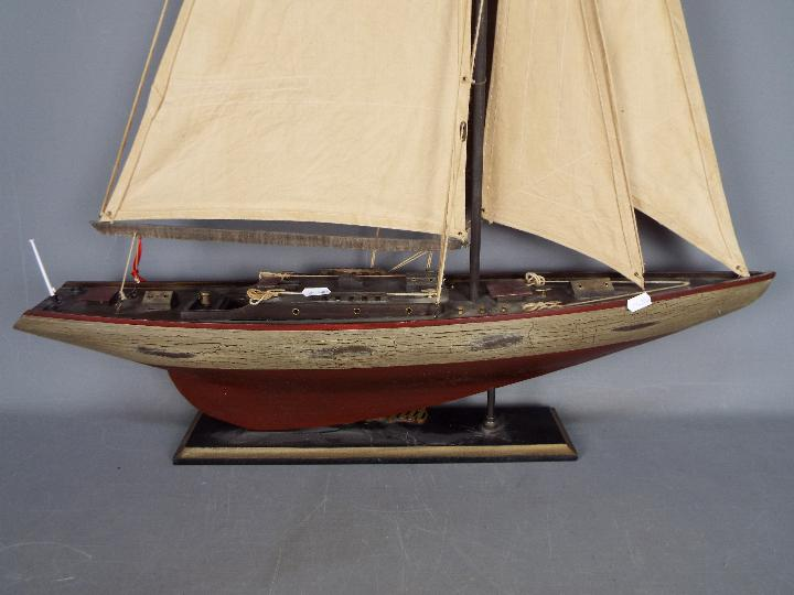 A large static model of a sea going yacht 'Miss Take'. - Image 5 of 5
