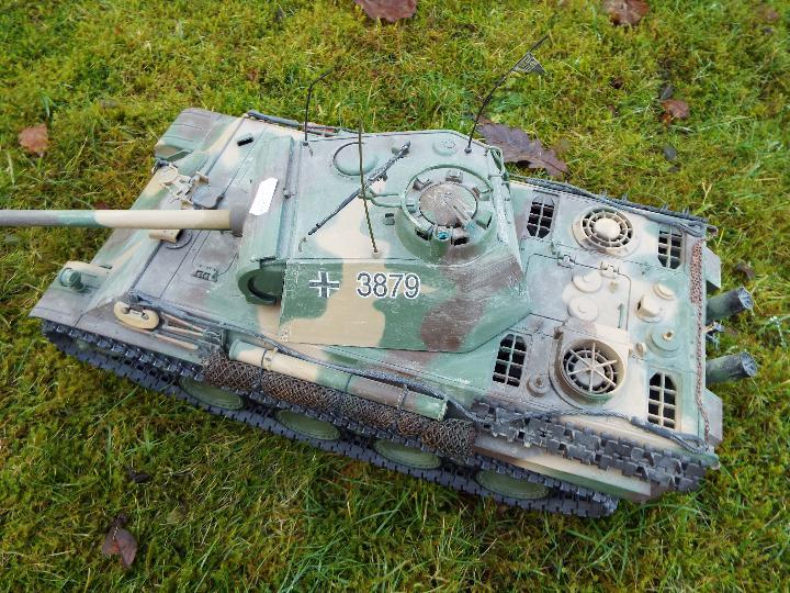 Heng Long - R/C tank 1/16 German RC Panther G camo IR Servo Torro Pro Edition Single link metal - Image 7 of 9