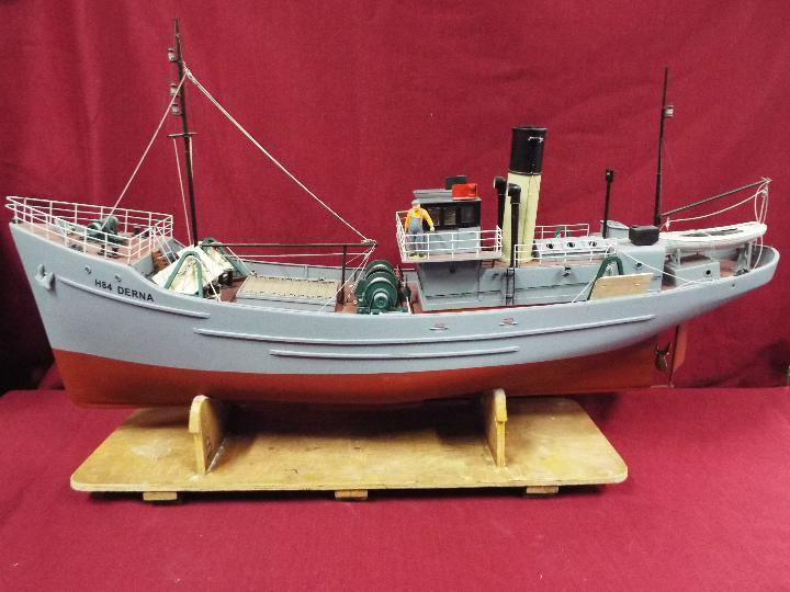 A large WW2 radio controlled fishing trawler 'H84 Dorna'.