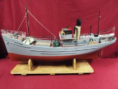 A large WW2 radio controlled fishing trawler 'H84 Dorna'.
