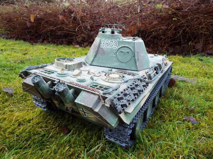 Heng Long - R/C tank 1/16 German RC Panther G camo IR Servo Torro Pro Edition Single link metal - Image 5 of 9