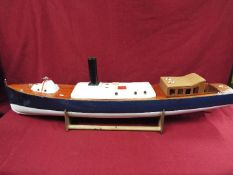 A scratch built model of Royal Navy Steam Pinnacle 199,