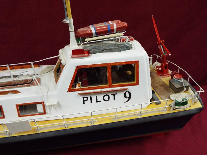 A scratch built model of a Pilot Boat measuring approximately 45cms (H) x 87cms (L) x 25cms (W). - Image 3 of 5
