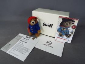 Steiff - A boxed, limited edition Steiff Paddington Bear # 690396, white tag and certificate,