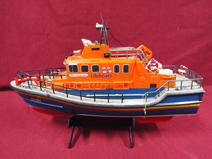 A remote controlled Severn Class Lifeboat.