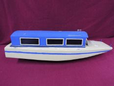 A scratch built model of a lake vessel 'Party Boat' measuring approximately 28cms (H) x 85cms x