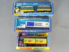 Matchbox - Three boxed vintage Matchbox diecast commercial vehicles.