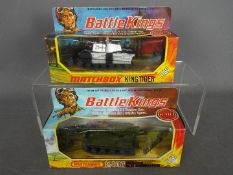 Matchbox - Two boxed Matchbox 'Battle Kings' military vehicles.