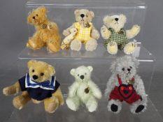 Hermann Bears - six Hermann Bears to include three dressed bears,