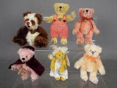 Hermann Bears - six Hermann Bears to include one dressed as an angel,