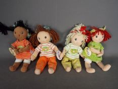 Maggie Raggies - four Zapp Collection Maggie Raggie Dolls entitled Becky, Berta, Brenda and Buffy,