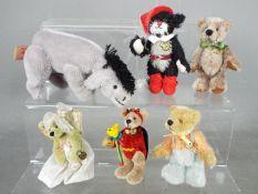 Hermann Bears - six Hermann Bears to include one in the form of Eeyore,
