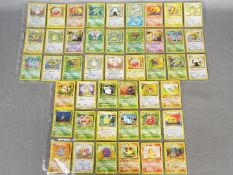 A COMPLETE SET OF 64 POKEMON 'JUNGLE' TRADING CARDS - Cards appear to be in Excellent - Mint
