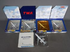 Gemini Jets - Five boxed diecast 1:400 scale model aircraft in various carrier liveries by Gemini