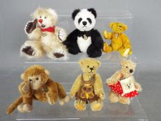 Hermann Bears - six Hermann Bears to include one in the form of a panda,