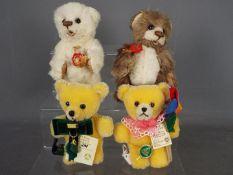 Hermann Bears - four Hermann Bears comprising a limited edition Pin Bear August Aventurine No.