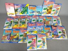 Matchbox - A collection of 24 carded 'Thunderbirds' and 'Stingray' diecast and plastic vehicles and