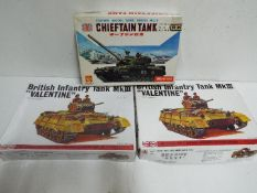 Crown Model Company - Fuman - 3 unmade 1/48 scale British military model kits including two # 7939