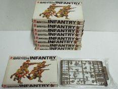 Bandai - 9 x boxed 1/48 scale Bandai # 1 British Infantry sets.