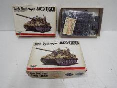 Two Bandai - WWII German Panzertruppe series model kits. 1:48 Scale.