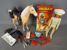 Marx Toys - A boxed vintage 12 inch 'Indian Cherokee' action figure by Marx.
