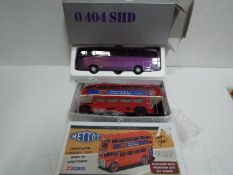 Corgi - Mettoy - NZG - A pair of boxed bus models in 1:43 scale,