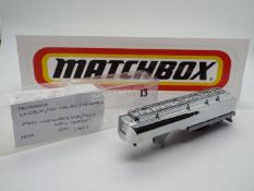 Matchbox - A 'First Shot' model of a Matchbox Convoy Semi Gas Tanker only! The model in chrome is