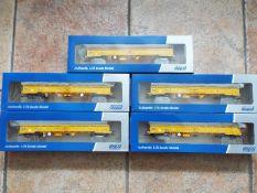 Dapol - five 00 gauge JNA Falcon Network Rail NLU wagons # 4F-010-001,