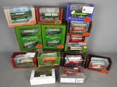 EFE - A collection of 14 boxed 1:76 scale bus and truck models including 2 x Liverpool Corporation