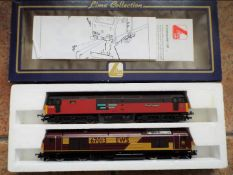 Lima Collection - a set of two OO gauge locomotives comprising EWS in maroon and yellow livery op