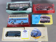Corgi - IXO - A group of 5 boxed / carded bus models in 1:43 and 1:50 scales including IXO AEC