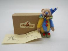 Teddy Bears Of Witney - Louise Peers limited edition blue and yellow bear named Mungo number 5 of