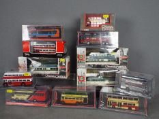 Corgi Original Omnibus - A collection of 12 boxed 1:76 scale bus and tram models including # 42907