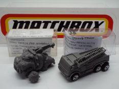 Matchbox - Two rare resin Matchbox models.