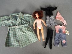 Pedigree, Patch - An unboxed vintage Patch (Sindy's little sister) doll with hard vinyl head,