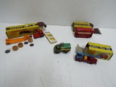 Budgie Toys - Wells Brimtoy - A group of 3 boxed Budgie Toy vehicles with an unboxed Wells Brimtoy