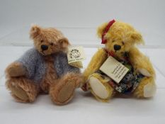 Hardy Bears - June Kendall limited edition bear in a blue cardigan called George,