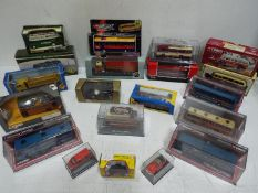Corgi - Atlas - Classix - A group of 17 boxed car truck and bus models mostly in 1:76 scale