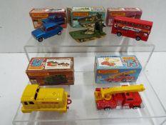 Matchbox - Five boxed Matchbox Superfast diecast vehicles.
