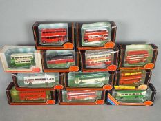 EFE - A collection of 12 boxed 1:76 scale buses including # 25802 Midland Red Daimler DMS,