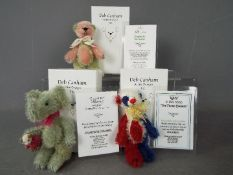 Deb Canham Artist Designs - A Deb Canham bear named Pims number 67 of 75 in Mint condition in its