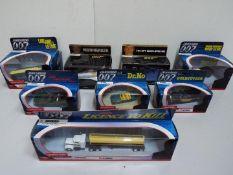 Corgi = Eight model Cars / Truck / Shuttle / Helicopter. James Bond 007.