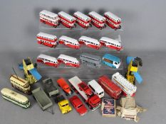 Dinky - A lot of 25 mostly Dinky models which have been hand painted and some that need restoration