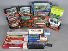 EFE - Corgi - Oxford - Britbus - A lot 22 boxed buses trucks and cars mostly in 1:76 scale