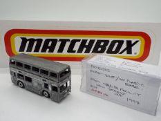 Matchbox - A 'First Shot' UK (Enfield) produced model of a Matchbox MB17 London Bus.