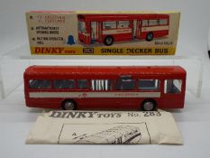 Dinky Toys - A boxed Dinky Toys #283 Single Decker Bus.