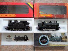 Hornby Railways - two OO gauge tank locomotives comprising BR class 3F 0-6-0T Jinty,